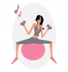 pilates vector image
