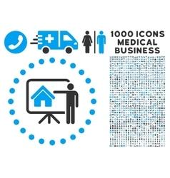 Realtor presentation icon with 1000 medical vector