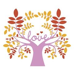 Romantic elegant tree vector image vector image