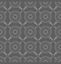 seamless pattern with viking shields and swords vector image vector image
