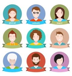 Set of avatar flat design vector image