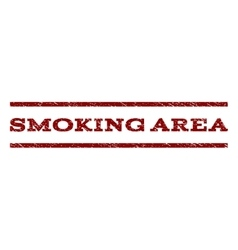 Smoking area watermark stamp vector
