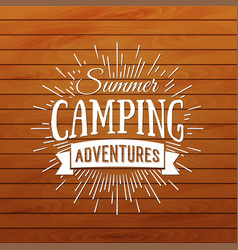 summer camp badge outdoor logo vector image
