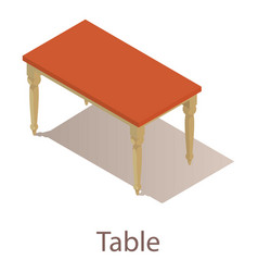 Table icon isometric style vector