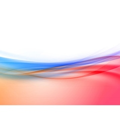 Transparent swoosh wave border in red and blue vector