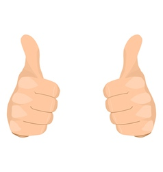 Two thumbs up vector