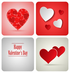Valentine decoration card made from white paper vector