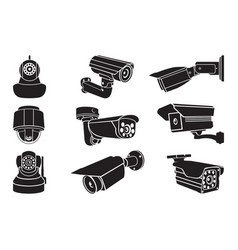 Video surveillance camera - icon vector