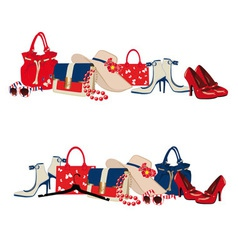 Womens accessories vector