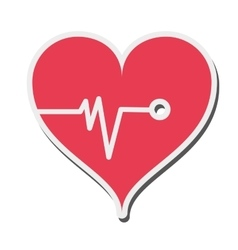 Heart cardiogram icon vector