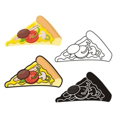 Pizza slice vector
