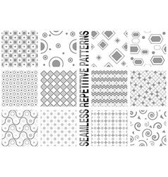 12 Seamless Patterns vector image vector image