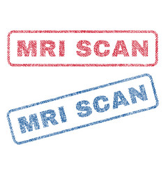 Mri scan textile stamps vector
