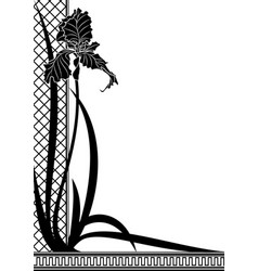 border with iris vector image
