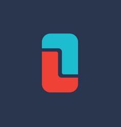 Letter l mobile phone logo icon design template vector
