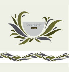 logo design element with business card vector image