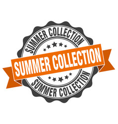 Summer collection stamp sign seal vector