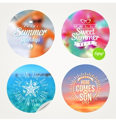 Summer holidays and tropical vacation set vector