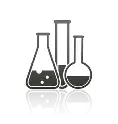 Laboratory equipment icon vector