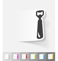Realistic design element opener vector