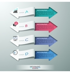 Modern paper arrow style options banner vector