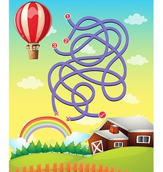 Game template with balloon flying vector