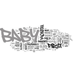 baby s first month at a glance text word cloud vector image