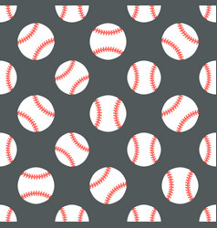 baseball softball sport game seamless vector image vector image