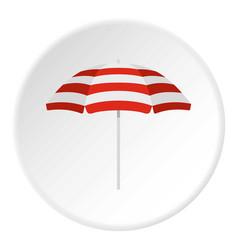 Beach umbrella icon circle vector