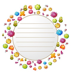 Border design with bacteria vector