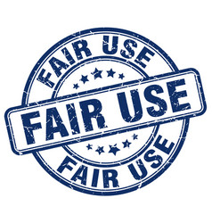 Fair use blue grunge stamp vector