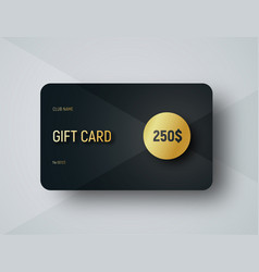 gift card template with a gold circle for face vector image vector image