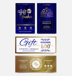 gift voucher design set vector image