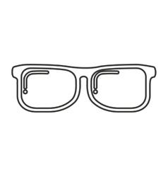 Glasses nerd isolated icon vector