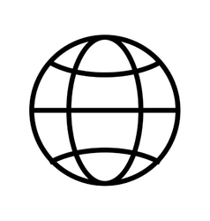 Globe diagram over white vector