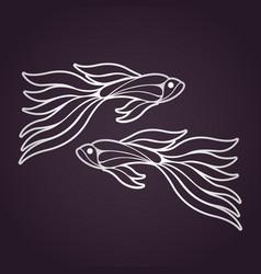 guppy fish logo icon design vector image vector image