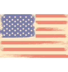 Independence Day America retro flag vector image vector image