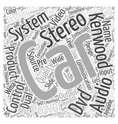 Kenwood car stereo word cloud concept vector