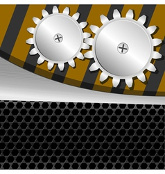 metal background with gears vector image vector image