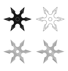 Metal shuriken icon cartoon single weapon icon vector