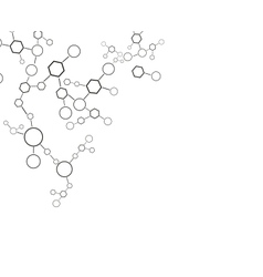 Molecule background vector