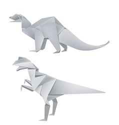 Origami dinosaurus vector