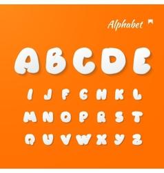 Paper Graphic Alphabet Set vector image