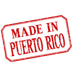 Puerto rico - made in red vintage isolated label vector
