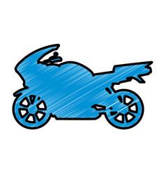 racing motorcycle silhouette vector image