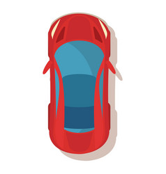 red car icon cartoon style vector image vector image