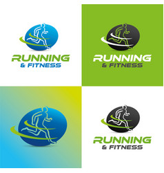 running and fitness vector image vector image