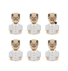 set male avatars avatar with wide vector image vector image