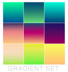Set of bright gradients for the background color vector
