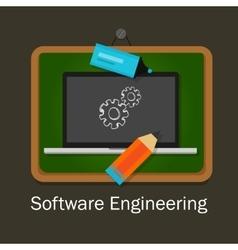 software engineering computer gear development vector image